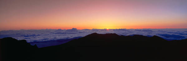 Wall Art - Photograph - Sunrise Over Haleakala Volcano Summit by Panoramic Images