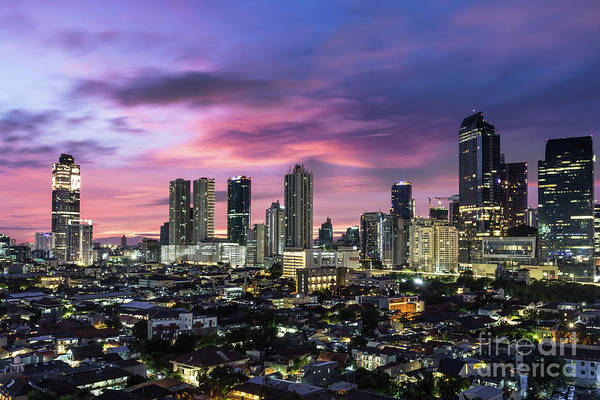 Photograph - Sunrise Over Jakarta by Didier Marti