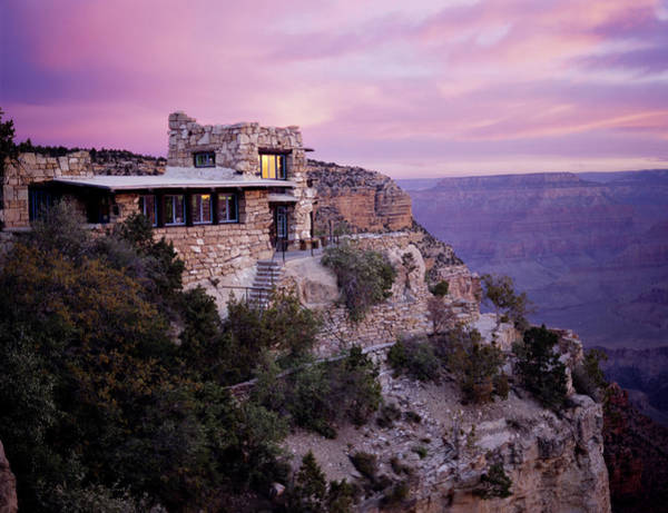 South Rim Photograph - Sunrise Over Lookout Studio by Mike Buchheit