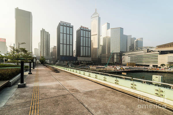Photograph - Sunrise Over The Wan Chai Skyline In Hong Kong Island by Didier Marti
