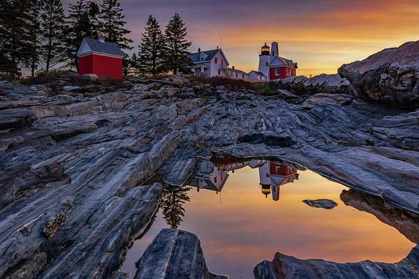 Photograph - Sunrise At Pemaquid Point II by Kristen Wilkinson