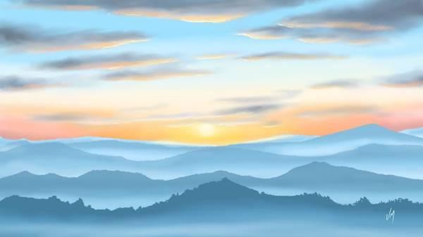 Gift Shops Painting - Sunrise by Veronica Minozzi