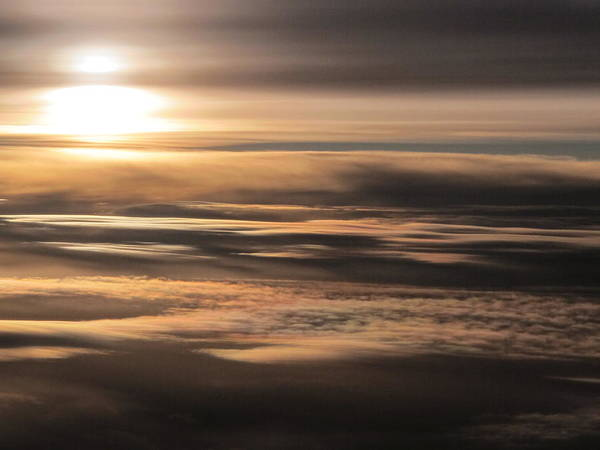 Wall Art - Photograph - Sunset Above The Clouds by Valia Bradshaw