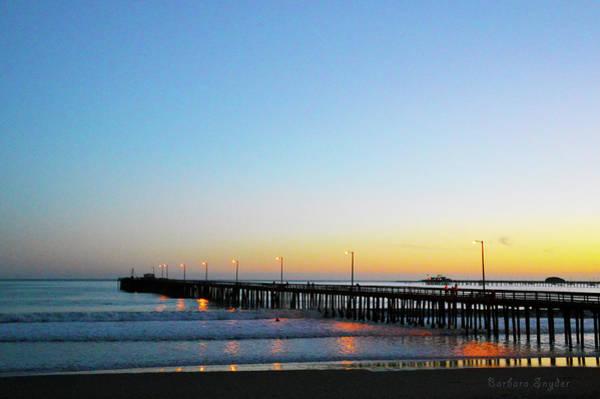 Wall Art - Photograph - Sunset At Avila Beach Pier by Barbara Snyder