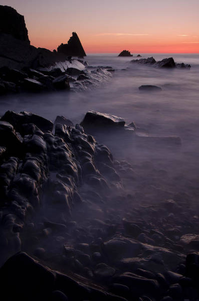 Sunset At Blegberry Beach Art Print