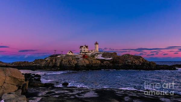 Photograph - Sunset At Cape Neddick/nubble Light. by New England Photography