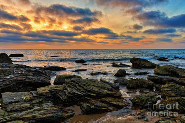 Photograph - Sunset At Crystal Cove by Eddie Yerkish