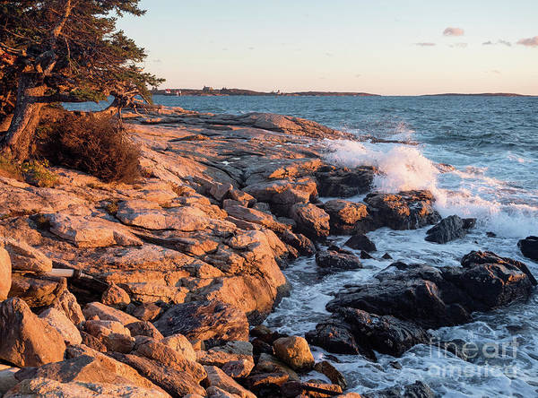 Photograph - Sunset At Ocean Point, East Boothbay, Maine  -230204 by John Bald
