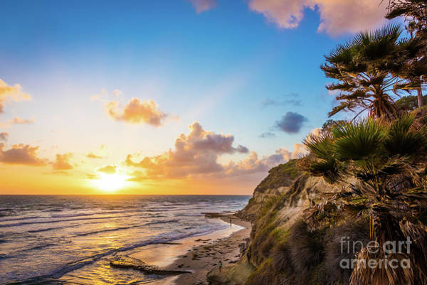 Photograph - Sunset At Swami's Beach  by David Levin