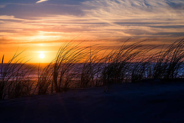 Photograph - sunset at the North Sea by Hannes Cmarits