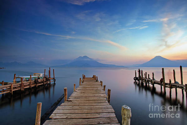 Photograph - Sunset At The Panajachel Pier On Lake Atitlan, Guatemala by Sam Antonio Photography