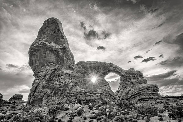 Sunset At Turret Arch Art Print