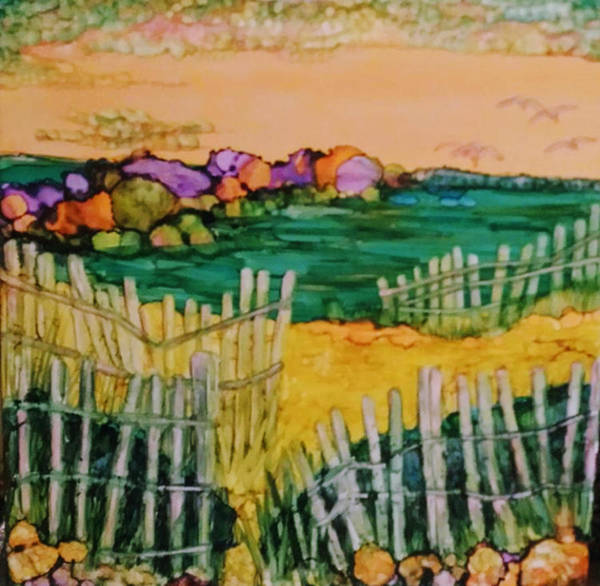 Painting - Sunset Beach by Betsy Carlson Cross