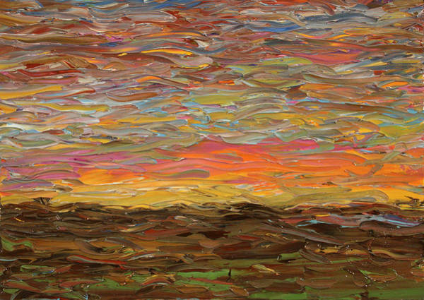 Johnson Wall Art - Painting - Sunset by James W Johnson