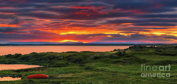 Meijer Wall Art - Photograph - Sunset Lake Myvatn by Henk Meijer Photography