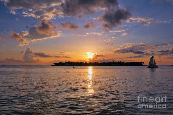 Wall Art - Photograph - Key West Sunset From Mallory Square by Kelly Pennington