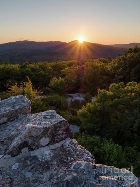 Photograph - Sunset, Mt. Battie, Camden, Maine  -33788-33791 by John Bald