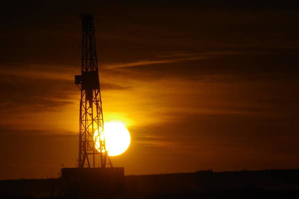 Wall Art - Photograph - Sunset On An Oil Rig Jal New Mexico by Jeff Swan