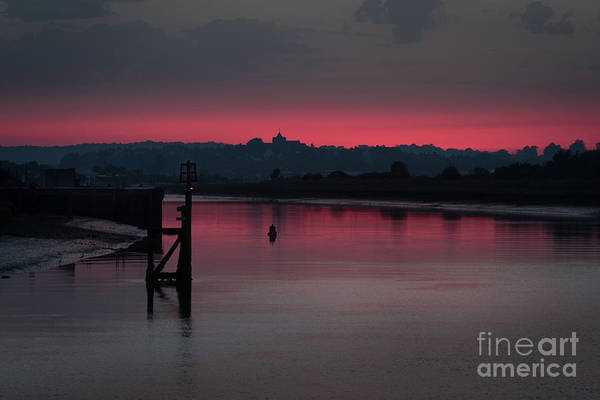 Sunset On The River Art Print