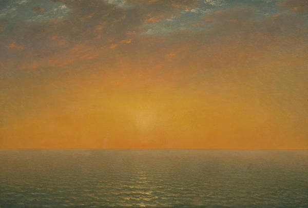Wall Art - Painting - Sunset On The Sea by John Frederick Kensett