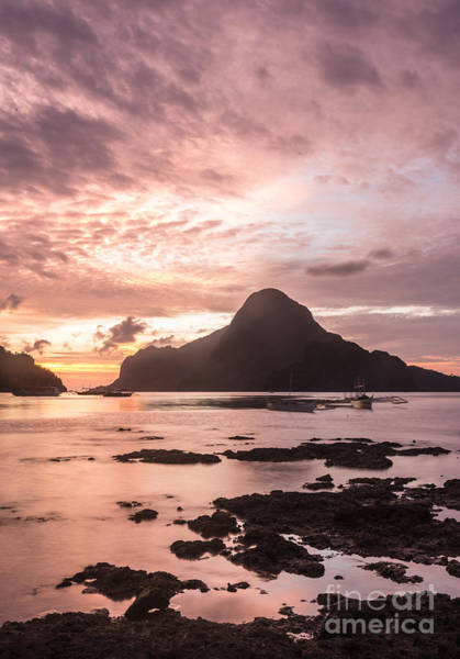 Photograph - Sunset Over El Nido Bay In Palawan In The Philippines by Didier Marti