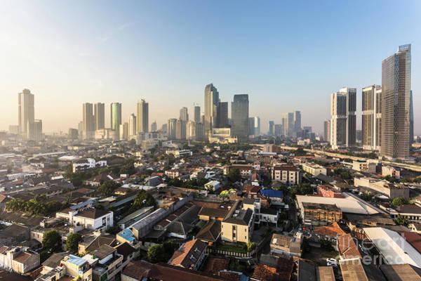 Photograph - Sunset Over Jakarta Skyline by Didier Marti
