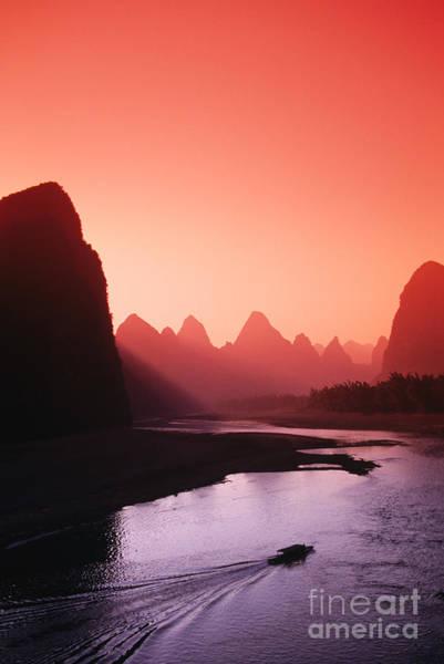 Expanse Photograph - Sunset Over Li River by Gloria & Richard Maschmeyer - Printscapes