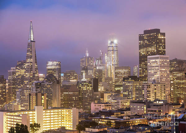 Photograph - Sunset Over San Francisco Financial District by Didier Marti