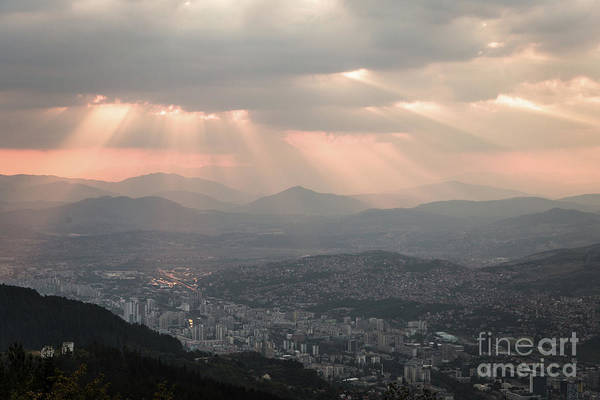 Photograph - Sunset Over Sarajevo, Bosnia by Didier Marti