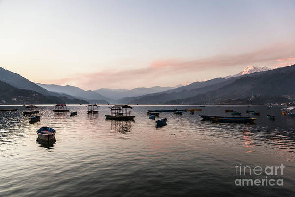 Photograph - Sunset Over The Phewa Lake In Pokhara In Nepal by Didier Marti
