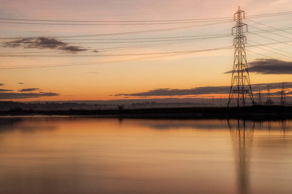 Photograph - Sunset Over The River Forth by Jeremy Lavender Photography