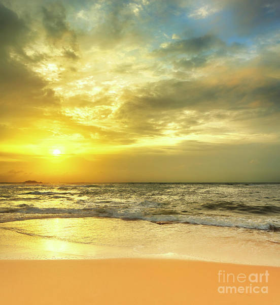 Srilanka Wall Art - Photograph - Sunset Over The Sea by MotHaiBaPhoto Prints