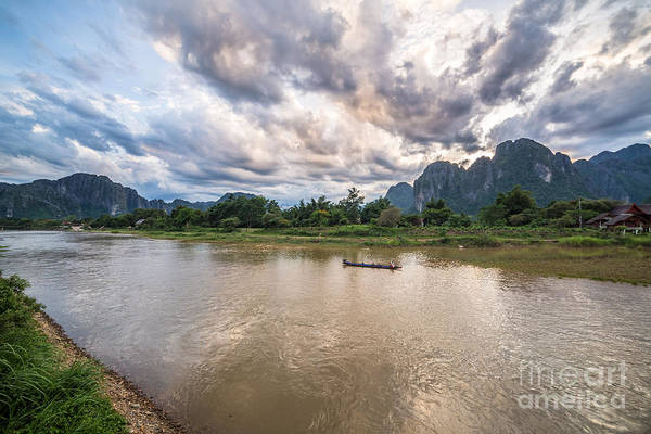 Photograph - Sunset Over Vang Vieng River In Laos by Didier Marti