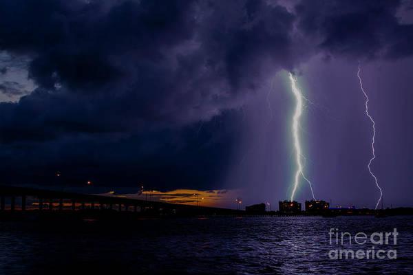 Lightning Bolt Photograph - Sunset Strikes by Quinn Sedam