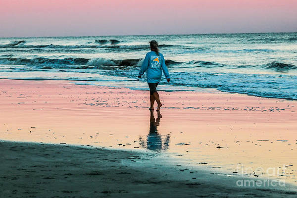 Photograph - Sunset Stroll In The Surf Hilton Head by Thomas Marchessault