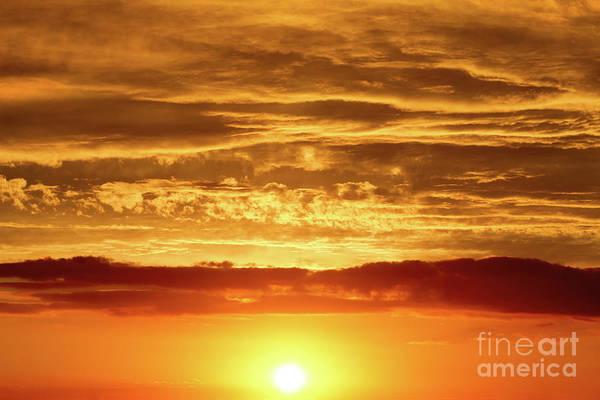 Wall Art - Photograph - Sunset - Sun Low Above The Horizon by Michal Boubin
