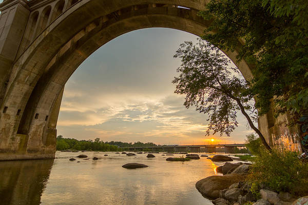 James Photograph - Sunset Under The A-line Bridge by Chris Marcussen