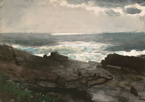Painting - Sunshine And Shadow Prout's Neck by Winslow Homer