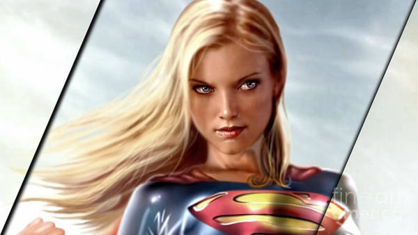 Super Hero Mixed Media - Supergirl Collection by Marvin Blaine