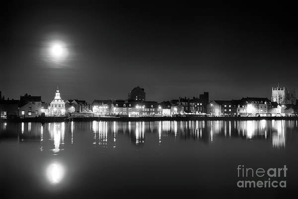 Kings Lynn Wall Art - Photograph - Supermoon Rising Over Norfolk Town Uk by Simon Bratt Photography LRPS