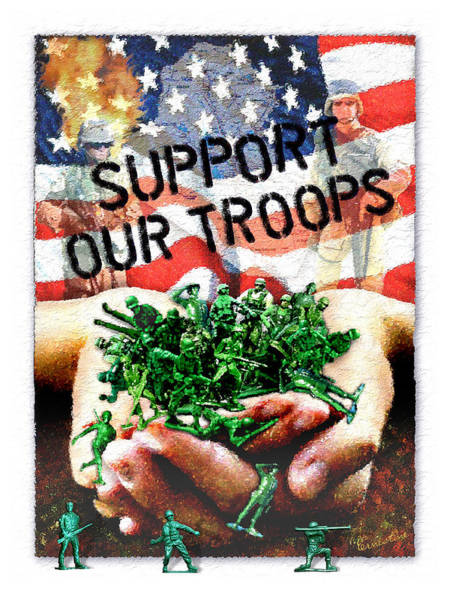 Toy Mixed Media - Support Our Troops by Ernestine Grindal
