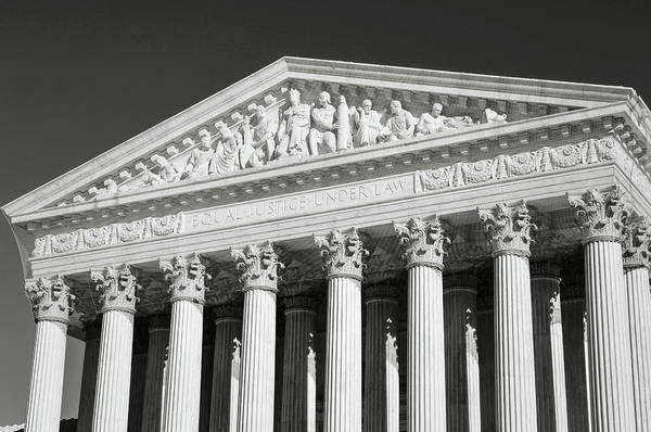 Photograph - Supreme Court Building In The United States by Brandon Bourdages