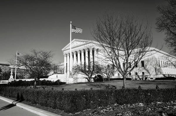 Photograph - Supreme Court During Winter by Brandon Bourdages