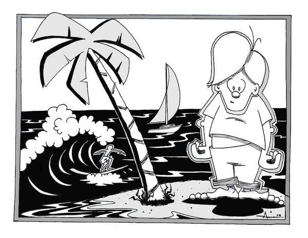 Wall Art - Digital Art - Surfer Toon 4 by Aaron Bodtcher