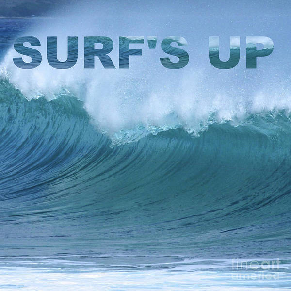 Digital Art - Surf's Up by Barefoot Bodeez Art