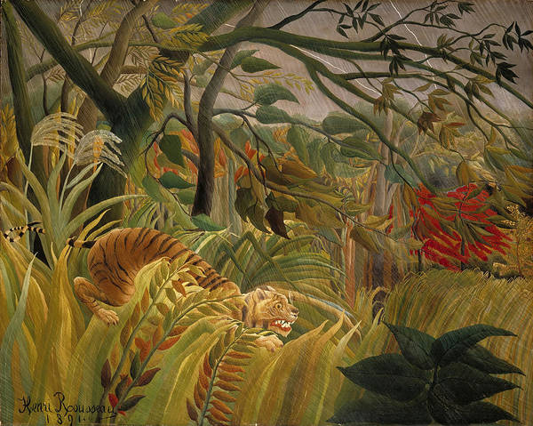 Painting - Surprised by Henri Rousseau