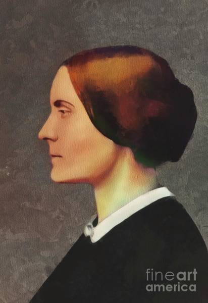 Equal Rights Wall Art - Painting - Susan B. Anthony, Suffragette by Mary Bassett