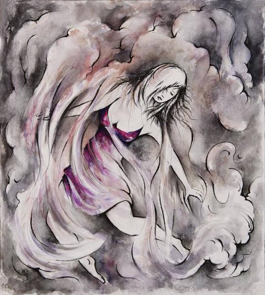 Hallucination Painting - Swept Away by Rachel Christine Nowicki