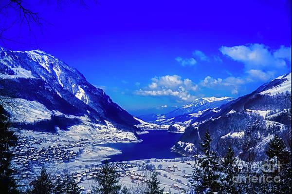 Photograph - Switzerland Alps Lake  Winter  by Tom Jelen