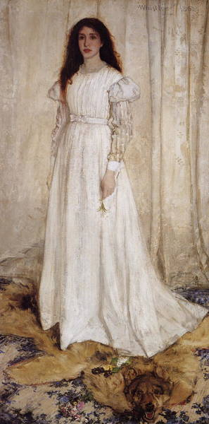 Painting - Symphony In White No. 1 - The White Girl  by James Abbott McNeill Whistler